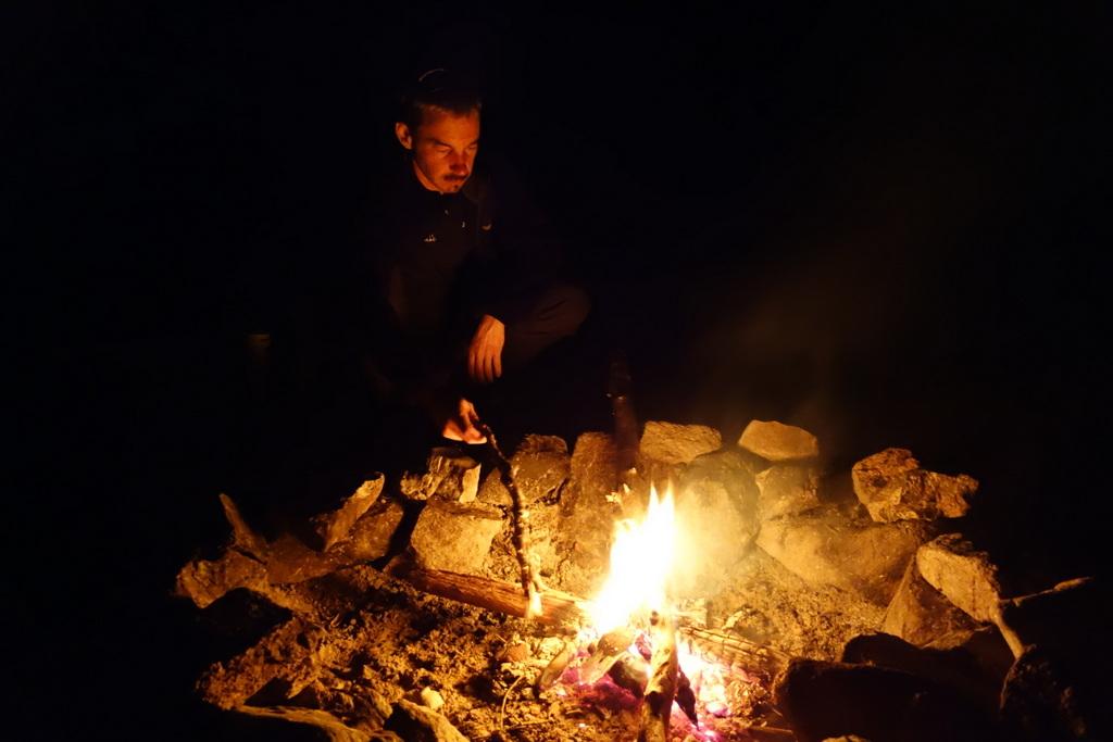 Cowboyfeuer, das die wilden Tiere fernhält