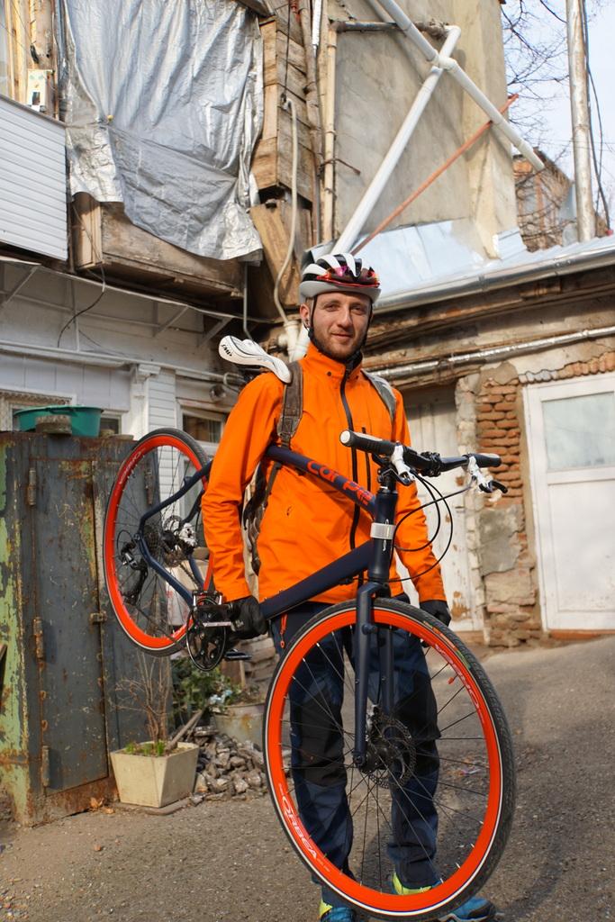 Das Fahrrad ist Tamaszs Leidenschaft.