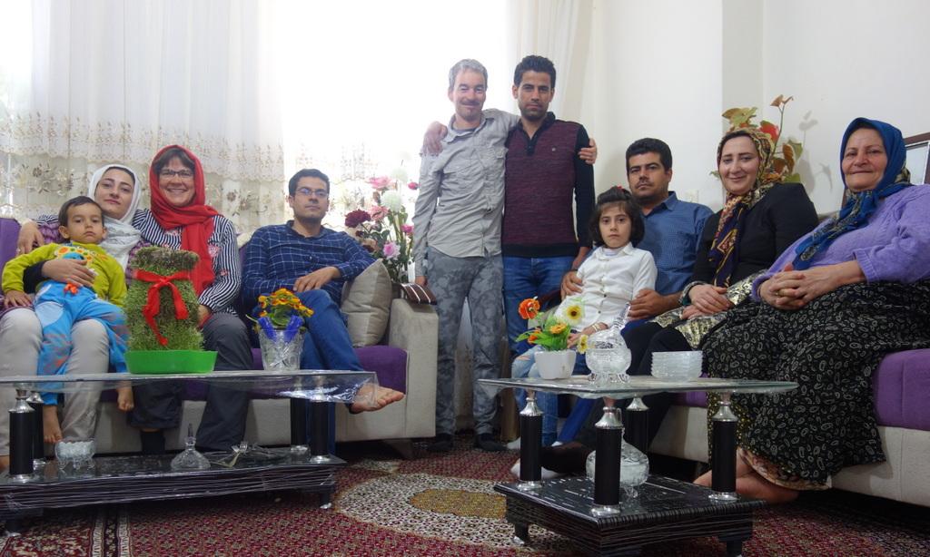 Iraner lieben Familienaufstellungsbilder.