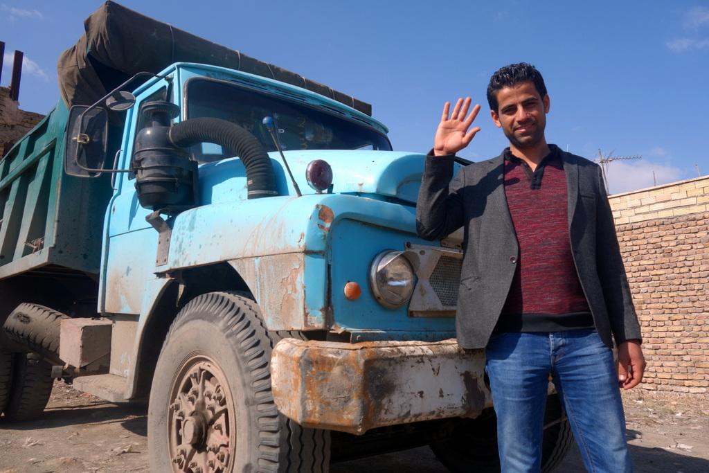Hadi und sein Lastwagen
